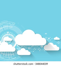 Web cloud technology business abstract background. Vector