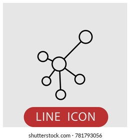 Web connection vector line icon.