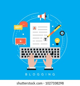 Web content strategy process, digital content, website content creation and testing flat vector illustration design for web banners and apps