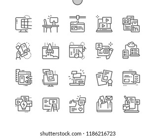 Web Content Well-crafted Pixel Perfect Vector Thin Line Icons 30 2x Grid for Web Graphics and Apps. Simple Minimal Pictogram