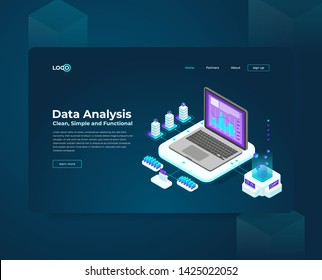 web design, banner slider, technology cryptocurrency and blockchain isometric composition, analysts and managers working on crypto start up. Isometric vector illustration