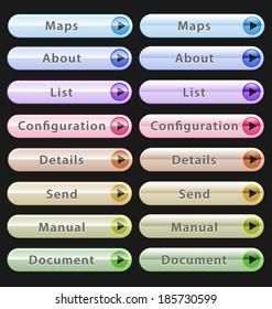 Web design buttons collection for creative designer tasks