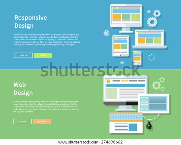 Web Design Computer Monitor Screen Web Stock Vector Royalty Free 274698662