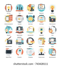Web Design and Development Vector Icons Set