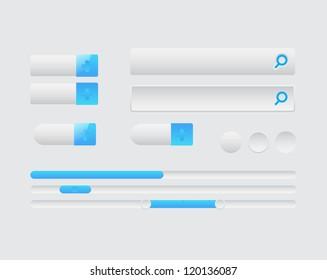Web Design elements, buttons