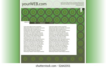 web design with green wallpaper