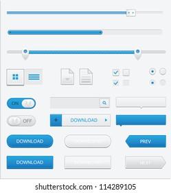 Web design GUI elements set.