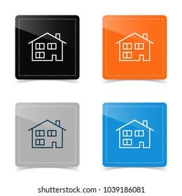 Web design of house icon. Vector illustration