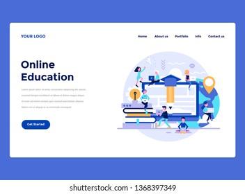 Web Design Landing page template. Modern flat design concept of web page design for website and mobile website. Vector illustration concept