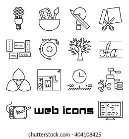 Web Design Line Art Icons. EPS 8.