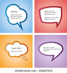 Web design speech bubble set