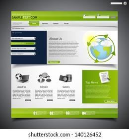 web design template, economy theme