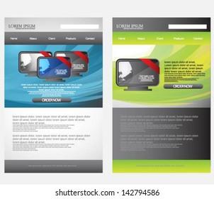 web design template set