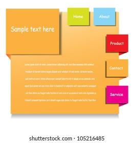 Web design, vector