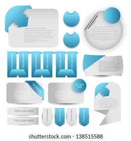 web designing element set