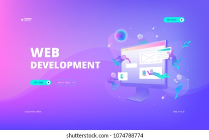 Web development web banner