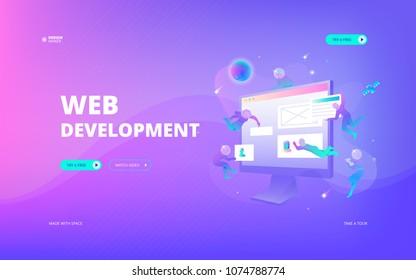 Web development web banner - Shutterstock ID 1074788774