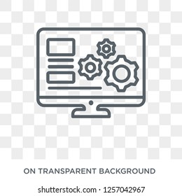 Web development icon. Trendy flat vector Web development icon on transparent background from Programming collection. High quality filled Web development symbol use for web and mobile