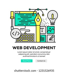 WEB DEVELOPMENT INFOGRAPHIC CONCEPT