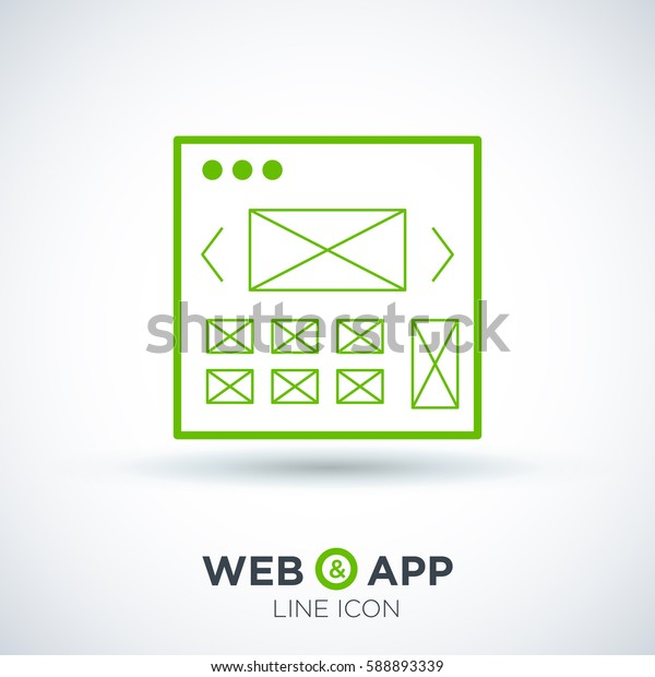 web development isolated minimal icon. making website graph line vector icon for websites and mobile minimalistic flat design.