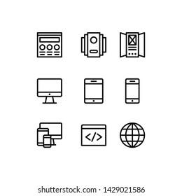 Web development line Icons set