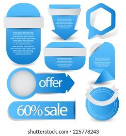 web element set best for sale advertisement. vector