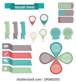 web elements infografic