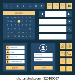 Web elements template. Flat design. Vector illustration
