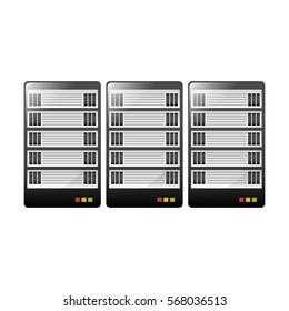 web hosting or data center related icons image vector illustration design