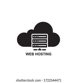 WEB HOSTING ICON , CLOUD SERVER ICON