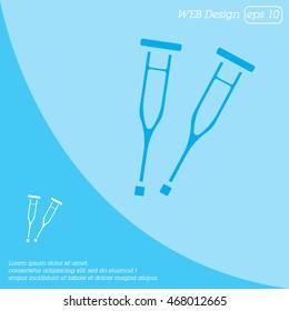 Web icon. Crutches