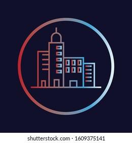 Web Icon Gradient Color Real Estate Design Theme