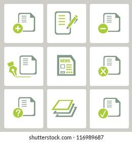web icon, internet icon, business icon set, green icon set