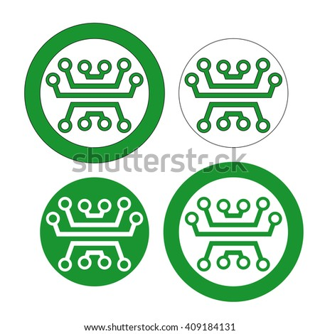Admirable Web Icon Logo Printed Circuit Board Stock Vector Royalty Free Wiring 101 Swasaxxcnl