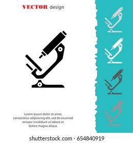 Web icon. Microscope