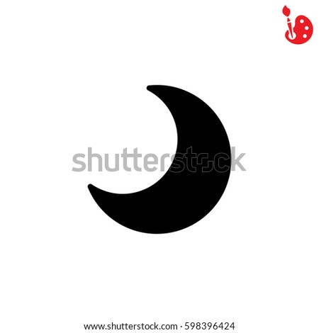 Web Icon Moon Crescent Stock Vector Royalty Free 598396424