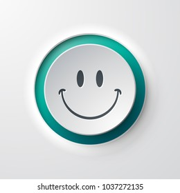 web icon push button smile emoticon