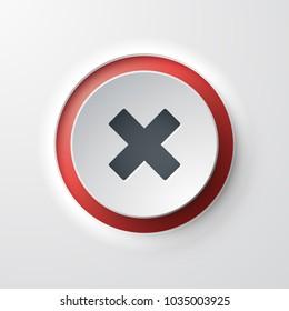 web icon push-button cross cancel
