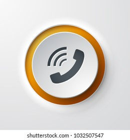 web icon push-button phone call