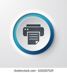 web icon push-button printer