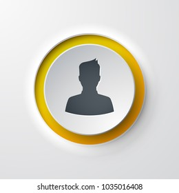 web icon push-button user customer