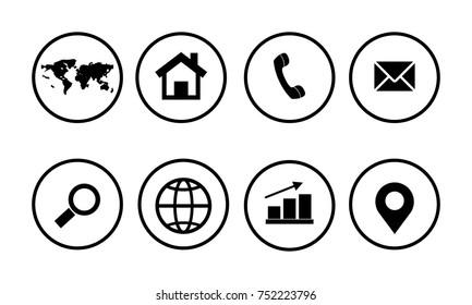 Web icon set - Shutterstock ID 752223796
