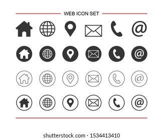Web icon set. for computer and mobile