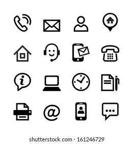 Web icon set - Contact us