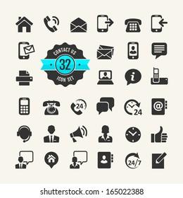 Web icon set. Contact us