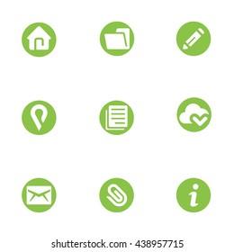 Web Icon Set Design Icon Template Elements