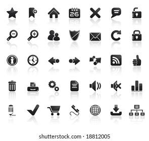 Web Icon Set. Easy To Edit Vector Image.