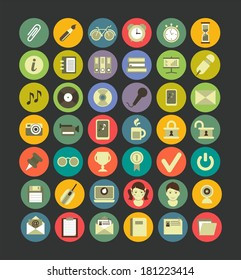 Web icon set of flat Number 42 is excellent for use in web design and info graphics