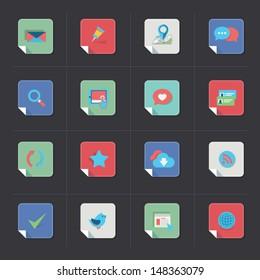 Web icon set - folded corner