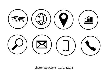 web icon set on white